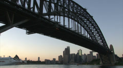 Harbor bridge in Sydney Stock Footage