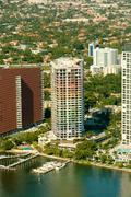 Miami city apartments Stock Photos