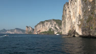 Stock Video Footage of Phi Phi islands lime-stone rock formation