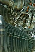 Space rocket engine Stock Photos