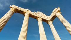greek columns, ancient ruins - stock footage