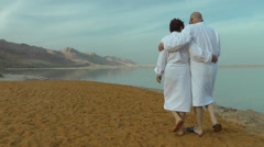 Mature couple on vacation Stock Footage