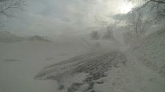 Heavy Snow Road Block - stock footage