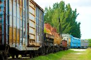Stock Photo of old cargo train