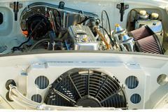 Vintage car engine detail Stock Photos