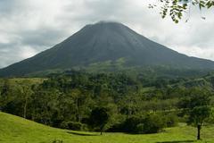 arenal volcano, costa rica - stock photo