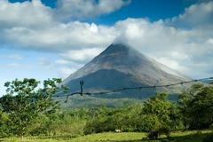 view of the arenal volcano - stock photo
