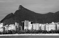 Stock Photo of cristo redentor as seen from a boat in the baia de guanabara in rio de janeir