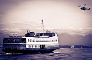 Stock Photo of barca rio-niteroi ferry boat on baia de guanabara