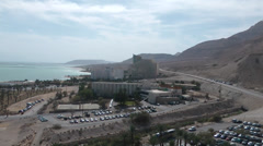 Panoramic view Dead sea Stock Footage