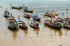 Stock Photo of many boats