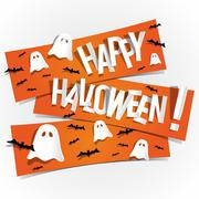 Happy Halloween card - stock illustration