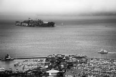 Alcatraz and pier 39 Stock Photos