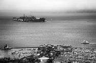 Stock Photo of alcatraz and pier 39