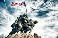 Stock Photo of marine corps war memorial