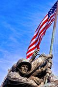 Iwo jima war memorial, usa Stock Photos