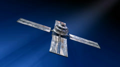 3D Animation Satellite II with seamless looping Stock Footage