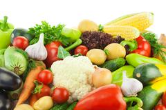Different vegetables / big assortment of food Stock Photos