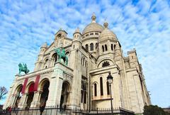 Basilique of Sacre Coer (saint heart) in a Paris Stock Photos