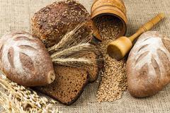 Fresh white bread Stock Photos