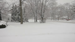 Snow falling wide shot - stock footage