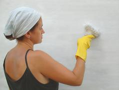 Painting of wall Stock Photos