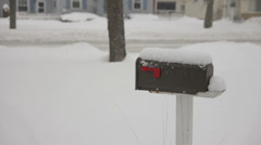 Snow covered mailbox Stock Footage