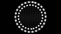 Futuristic HUD Animation on a Black Background Stock Footage