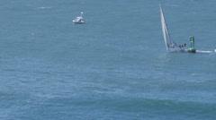 Sailboat regatta boat race Stock Footage