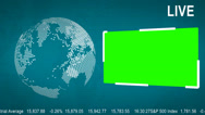 Stock Video Footage of LIVE News Flash with a Green Screen