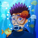 Stock Illustration of diving young man