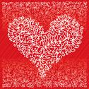 Stock Illustration of st. valentine love red heart card