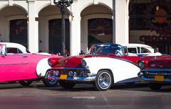 Cuba havana oldtimer Stock Photos
