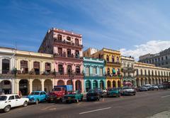 Caribbean cuba havana building on the main street Stock Photos