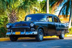 Oldtimer parked in Cuba Havana 2 Stock Photos