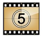 Stock Illustration of Film countdown 5