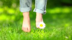 kids feet - stock footage