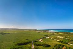 Atlantic ocean from helicopter view Stock Photos
