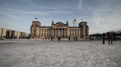 German parliament in winter Stock Footage