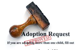 adoption request - stock photo