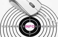 Stock Photo of web info target