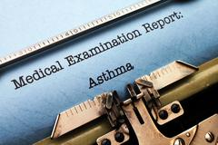 medical report - asthma - stock photo