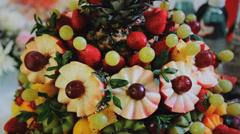 Fruit Cake Stock Footage