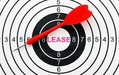 Lease target concept Stock Photos