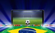 Brazil soccer online Stock Illustration