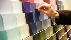 Selecting Paint Sample 3963 Stock Footage