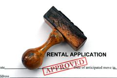 rental application - approved - stock photo