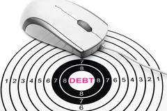 Debt target concept Stock Photos