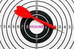 resume target concept - stock photo