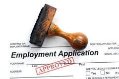 Employment application - approved Stock Photos